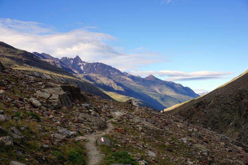 Blick zurück auf dem Weg zur Schöne Aussicht Hütte