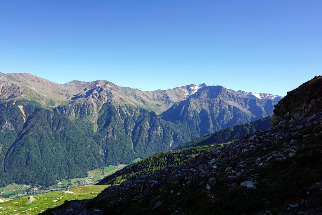 Blick ins Tal vom Marteller Höhenweg