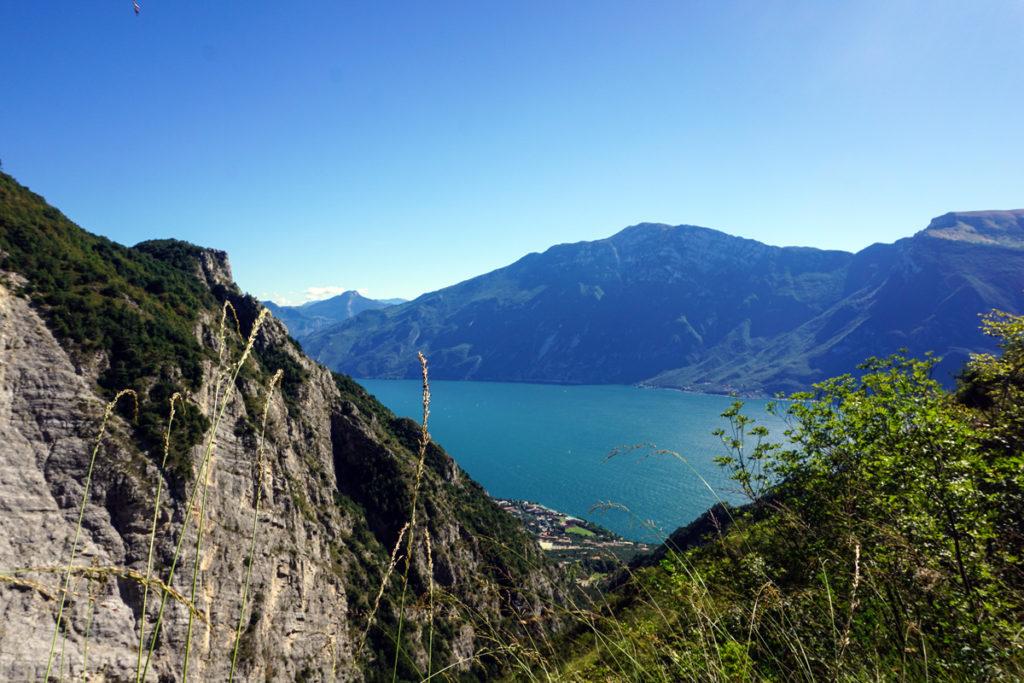 Blick auf unser Ziel. Limone sul Garda