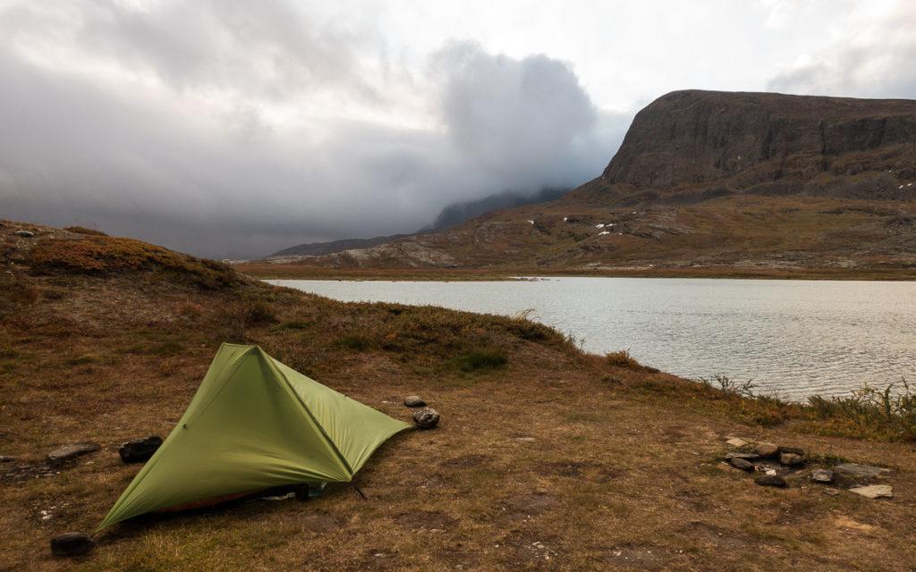 Zelten am Alesjaure auf dem Kungsleden