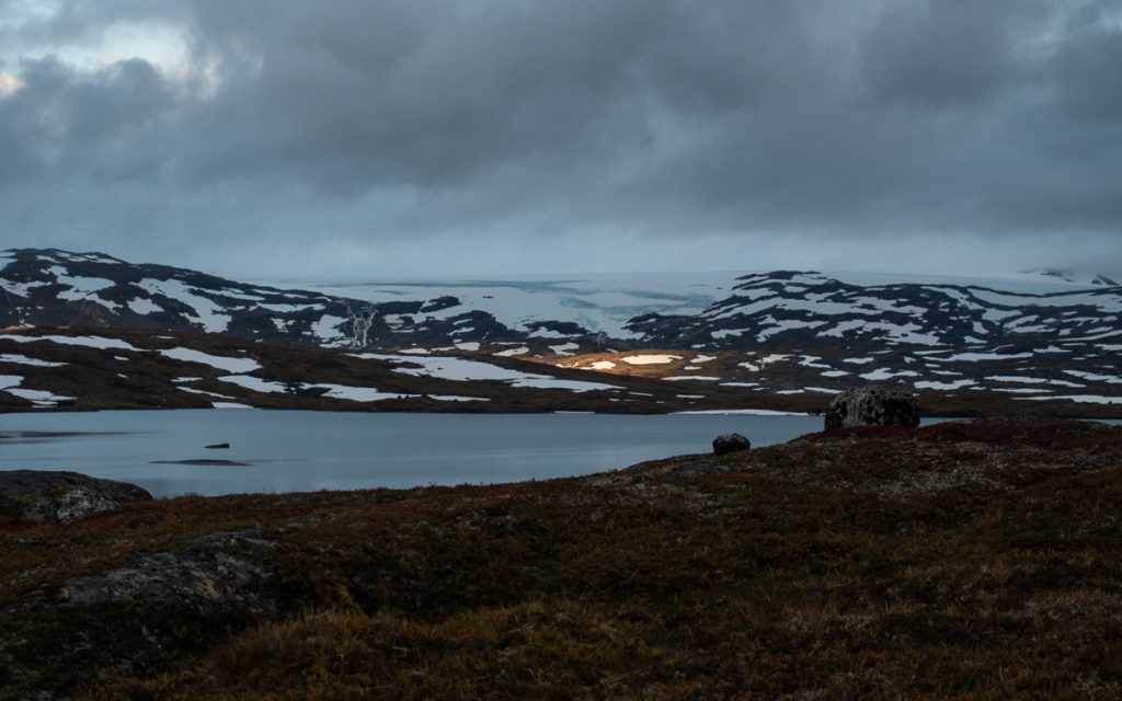 Gihccejiekna Gletscher Bovrojávri Nordkalottleden